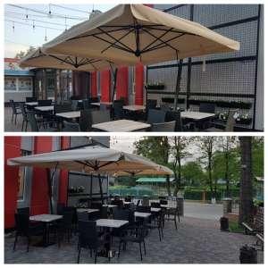 Великі вуличні парасолі для кафе, бару, ресторану - изображение 1