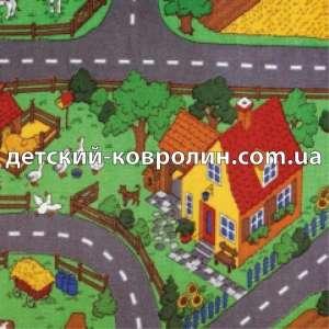 Дитячий ковролін. Дитячий килимок для ігор Farm. Килими дитячі. - изображение 1