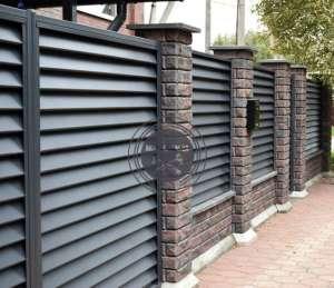 Заборы и ворота -жалюзи из металлических ламелей. - изображение 1