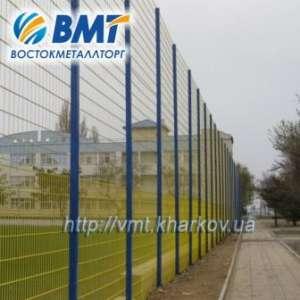 Забор секционный, забор из сетки сварной, ограждения секционные, секции ограждений. - изображение 1