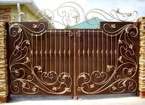 Изготовление металлических распашных ворот. Изготовление и продажа металлических конструкций. - изображение 1