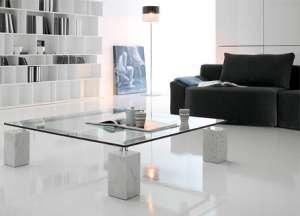 Итальянская мебель из стекла и стеклянные изделия: столы, стулья, тумбочки, полки, стеллажи, витрины - изображение 1