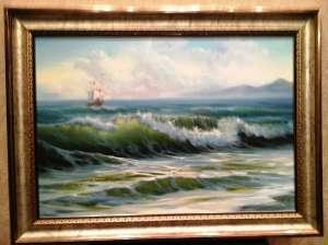 Картина маслом. Морской пейзаж, маринистика - изображение 1