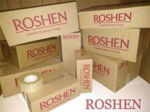 Коробки картонные с логотипом Рошен (Roshen). Разового использования. - изображение 1