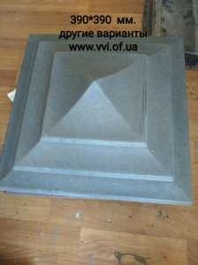 Крышки бетонные на забор - изображение 1