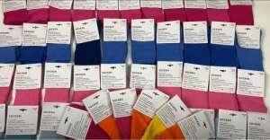 Лот 10-0716, Шкарпетки кольорові, вага 2,4 кг - изображение 1