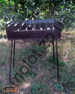 Мангал чемодан на 6-8-10-12 шампуров - изображение 1