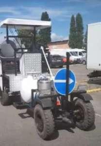 Машина розмічальна для нанесення холодного пластику та фарби - Road marking S.A - изображение 1