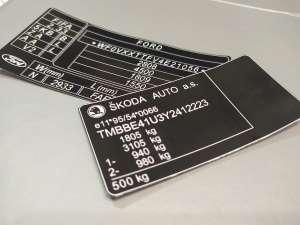 Номер кузова заводского качества, наклейка оригинал, табличка на все марки авто - изображение 1