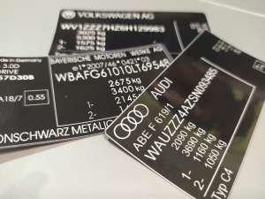 Оригинальные заводские наклейки, таблички, Вин фрагменты на авто - изображение 1