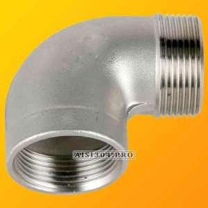 Отвод нержавеющий с наружной резьбой Ду 15 (1/2) AISI 304 - изображение 1