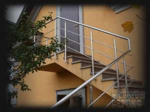 Перила Лестницы Ограждения из нержавеющей стали Киев. Производство изделий из нержавеющей стали Киев - изображение 1