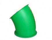 Пластиковые комплектующие для детских площадок горка труба поворот 30 градусов - изображение 1