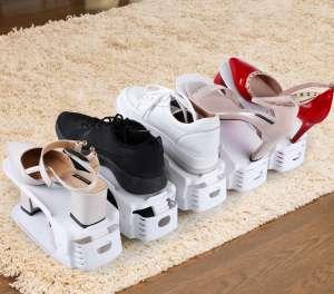 Подставка для обуви двойная. Органайзер для обуви - изображение 1