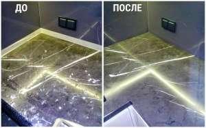Реставрация / ремонт мраморных столешниц - изображение 1