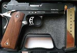 Сигнально-стартовый пистолет KUZEY 911,911SX (Black) + 1 magazine. - изображение 1