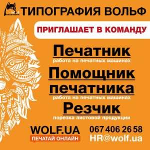 Стань частью команды Типографии Wolf - изображение 1