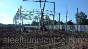 Строительство производственного цеха 24*60*7. Монтаж металлоконструкций - изображение 1