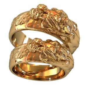 Эксклюзивные золотые обручальные кольца - изображение 1