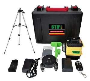 3D Лазерный уровень 12 линий STIF Germany Зеленый луч Нивелир + штатив - изображение 1